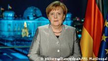 Deutschland - Neujahrsansprache Bundeskanzlerin Angela Merkel ***ACHTUNG SPERRFRIST