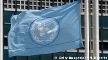 Symbolbild | UN-Logo (Getty Images/AFP/N. Roberts)