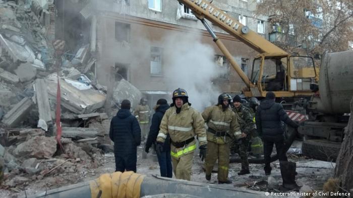 Russland Magnitogorsk Explosion in Wohnhaus