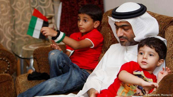 Ahmed Mansoor with his children
