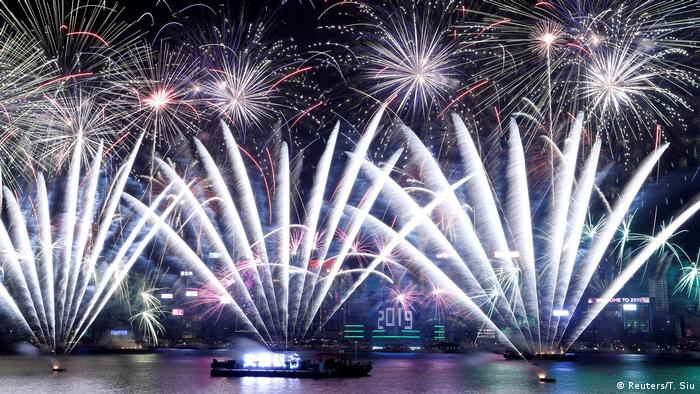 Hong Kong's Victoria Harbour fireworks