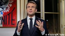 Neujahrsansprache Emmanuel Macron Paris