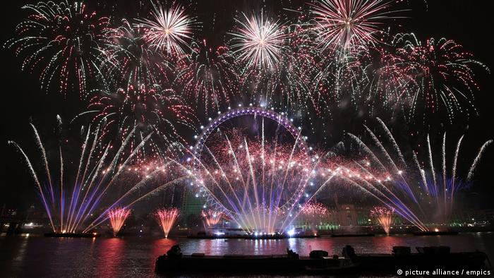 Großbritanien   Silvester – London (picture alliance / empics)