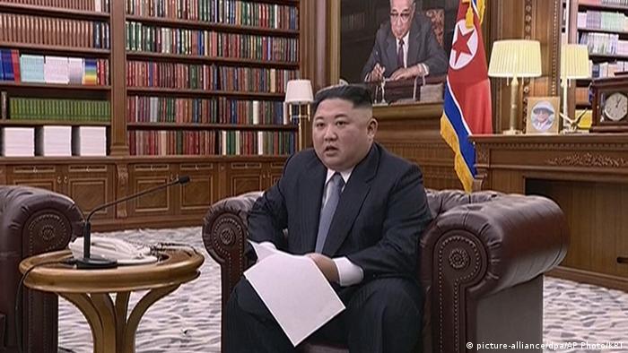 Nordkorea | Neujahrsansprache Kim Jong Un (picture-alliance/dpa/AP Photo/KRT)