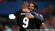 Fußball Champions League - Atletico Madrid vs Real Madrid | Karim Benzema und Isco