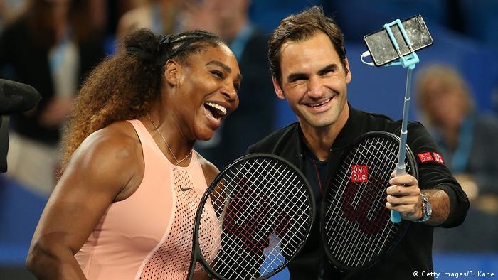 Roger Federer Wins Match Against Fellow Tennis Legend Serena