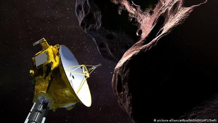 Ultima Thule, en el cinturón de Kuiper, a 6.500 millones de kilómetros de distancia del Sol, fue encontrado por New Horizons, que lo sobrevoló al cambio de año. Ultima Thule está a más de 6 horas luz de la Tierra. 01.01.2019