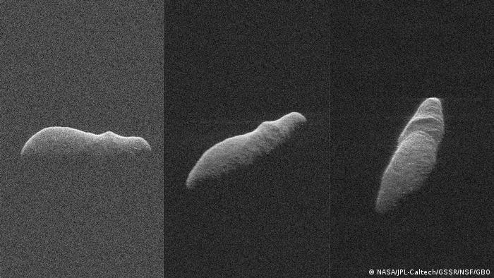 Pictures from Asteroid 2003 SD220 (NASA/JPL-Caltech/GSSR/NSF/GBO)