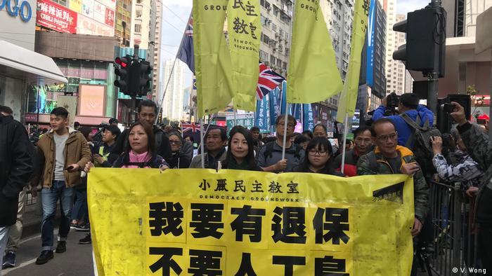 China | Demokratiebewegung in Hongkong geht an Neujahr auf die Straße (V. Wong )