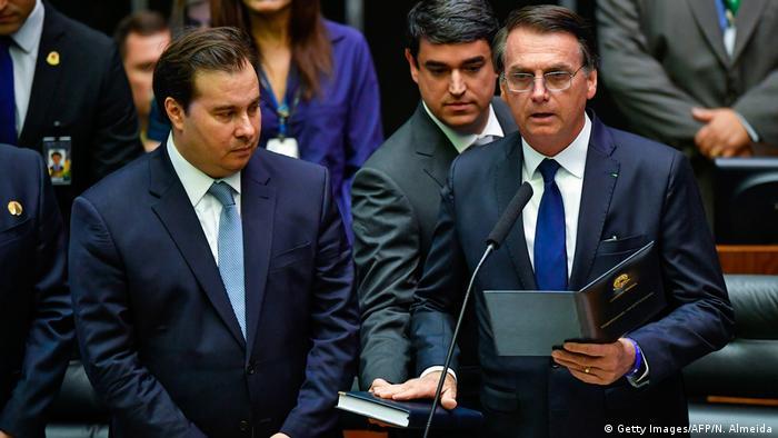 Brasilien Amtseinführung Jair Bolsonaro (Getty Images/AFP/N. Almeida)