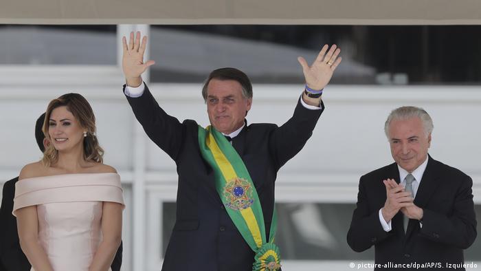 Brasilien | Amtseinführung Jair Bolsonaro (picture-alliance/dpa/AP/S. Izquierdo)