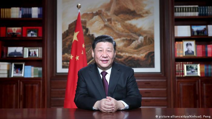 Neujahrsansprache von Xi Jinping (picture-alliance/dpa/Xinhua/J. Peng)
