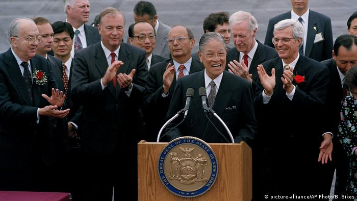 USA 1995 Lee Teng-hui, Präsident Taiwan (picture-alliance/AP Photo/B. Sikes)