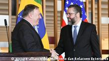 Brasilien Mike Pompeo und Ernesto Araujo