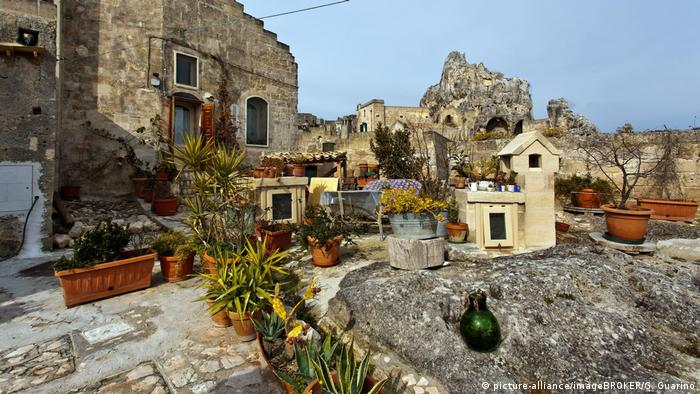 Blick auf Matera in Italien am Tag. (picture-alliance/imageBROKER/G. Guarino)