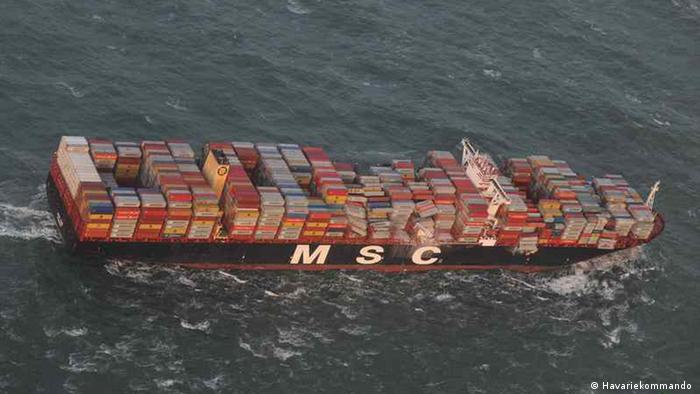 Cargo ship loses 270 containers near German island in North