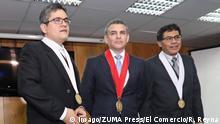 August 2, 2018 - Lima, PERU - 2 DE AGOSTO DE 2018..PRESENTACIO NUEVOS FISCALES CASO LAVAJATO.RAFAEL VELA BARBA.JOSE DOMINGO PEREZ GOMEZ.NORMA GEOVANA MORI GOMEZ.GERMAN JUAREZ ATOCHE..FOTO: ROLLY REYNA / EL COMERCIO PERU Lima PERU *** August 2 2018 Lima PERU AUGUST 2 2018 PRESENTATION NEW TAXES CASE LAVAJATO RAFAEL VELA BARBA JOSE DOMINGO PEREZ GOMEZ GOMEZ NORMA GEOVANA MORI GOMEZ GERMAN JUAREZ ATOCHE PHOTO ROLLY REYNA EL COMERCIO PERU PERU Lima PERU PUBLICATIONxINxGERxSUIxAUTxONLY - ZUMAp94_ 20180802_zaf_p94_043 Copyright: xElxComerciox
