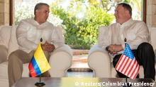 Kolumbien Mike Pompeo und Ivan Duque in Cartagena
