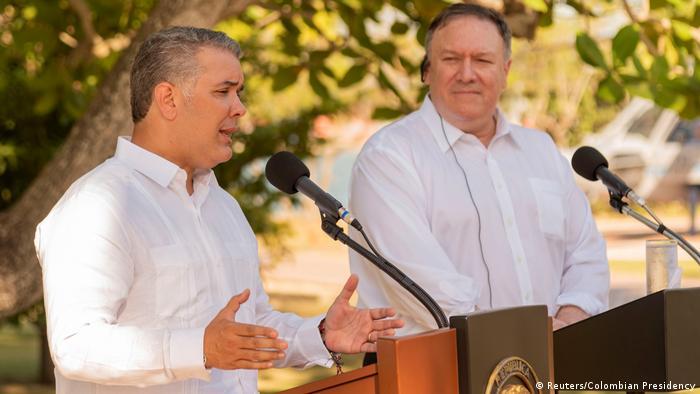 Kolumbien Mike Pompeo und Ivan Duque in Cartagena (Reuters/Colombian Presidency)