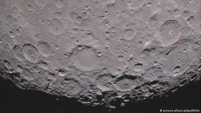 A handout picture of the dark side of the moon from NASA