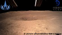 Rückseite des Mondes von der Mondsonde Chang'e-4
