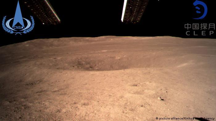 Rückseite des Mondes von der Mondsonde Chang'e-4 (picture-alliance/Xinhua News Agency)