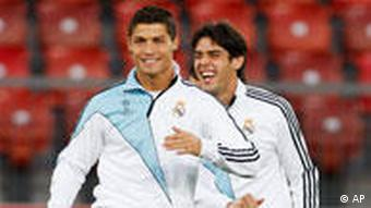 Real Madrid's Cristiano Ronaldo, left, and Kaka