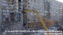Russland Magnitogorsk - Aufräumarbeiten nach Gasexplosion