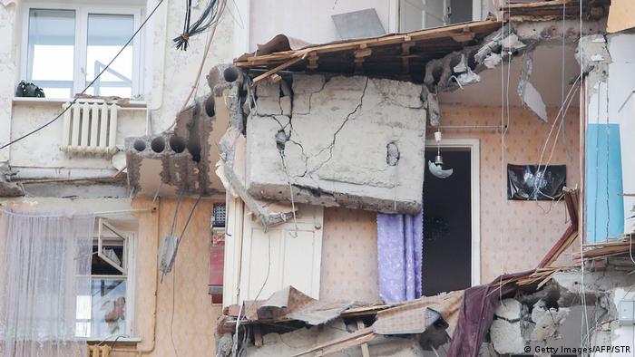 Часть квартиры разрушенного в результате взрыва газа подъезда жилого дома в Магнитогорске