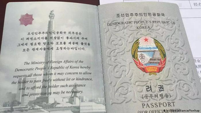 Reisepass aus Nordkorea