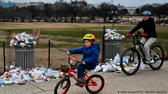 USA Müll in Washington durch Shutdown (AFP/Getty Images)