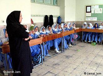 یک کلاس دخترانه در ایران