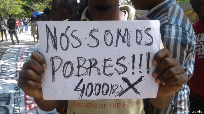 Fotografia de arquivo: Protesto contra taxas de acesso a universidades públicas, janeiro de 2019