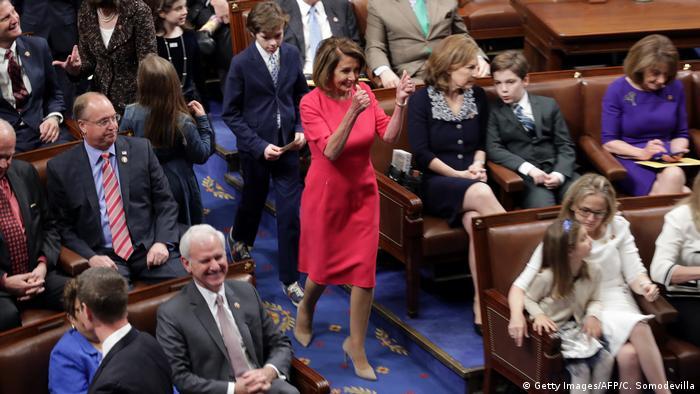 Speaker-designate Rep. Nancy Pelosi (D-CA) enters the chamber