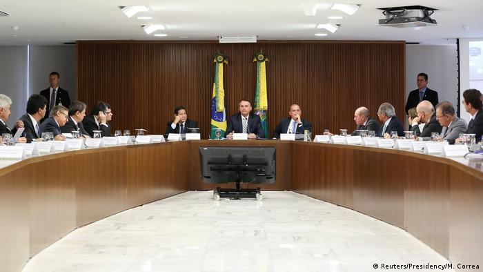 Brasilien Brasilia - Kabinettssitzung Jair Bolsonaro (Reuters/Presidency/M. Correa)