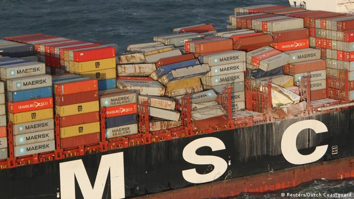 MSC Zoe (Reuters/Dutch Coastguard)