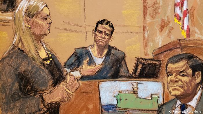 New York Prozess Joaquin El Chapo Guzman Vicente Zambada (Reuters/J. Rosenberg)