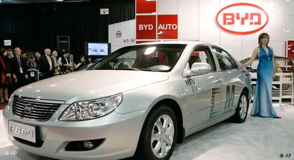 Ein Auto der Firma BYD Build Your Dreams aus China