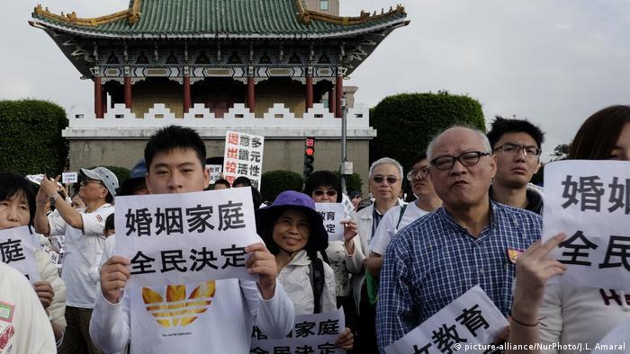 Taiwan Proteste gegen Gleichgeschlechtliche Ehen