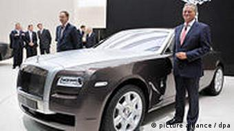A Rolls-Royce Ghost on show in Frankfurt