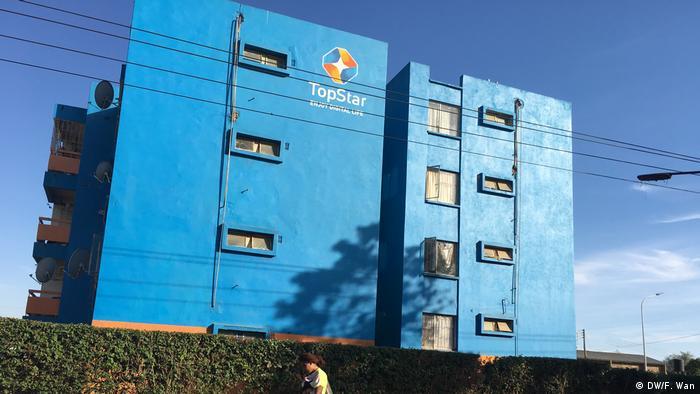 Sambia - Topstar-Gebäude in Lusaka (DW/F. Wan)