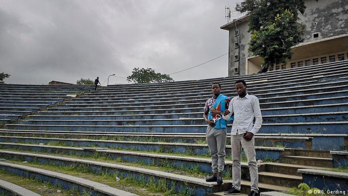 Patrick Kanyinda in Kinshasa