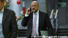 Berlin Spitzentreffen Union und SPD SPD-Vorsitzende Martin Schulz
