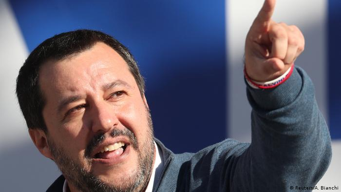 Italiens Liga veranstaltet eine Kundgebung in Rom - Matteo Salvini