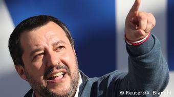 Matteo Salvini bei einer Rede
