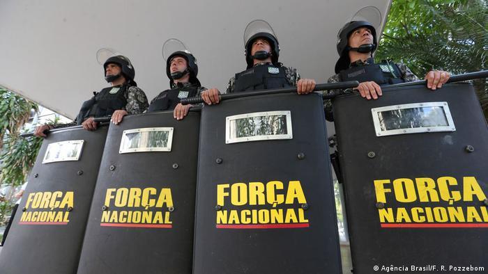 Polizei von der Força Nacional (Bundespolizei) erhöhen die Sicherheit in Ceará (Agência Brasil/F. R. Pozzebom)