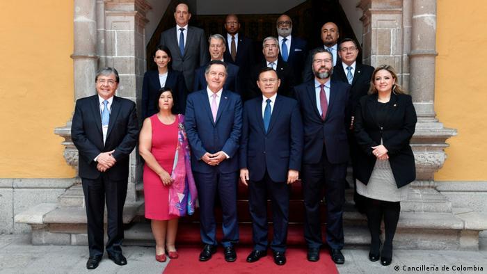 Portavoces de los Gobiernos afiliados al Grupo de Lima.