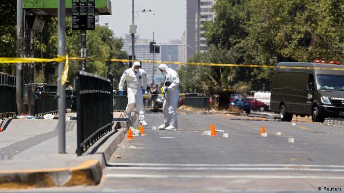 Chile Explosion an Bushaltestelle in Santiago (Reuters)