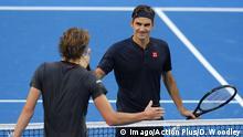Australien Hopman Cup   Alexander Zverev und Roger Federer