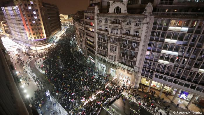 Протести у Сербії тривають п'ятий тиждень